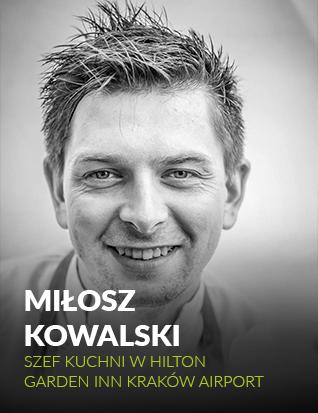 Miłosz Kowalski, szef kuchni w Hilton Garden Inn Kraków Airport